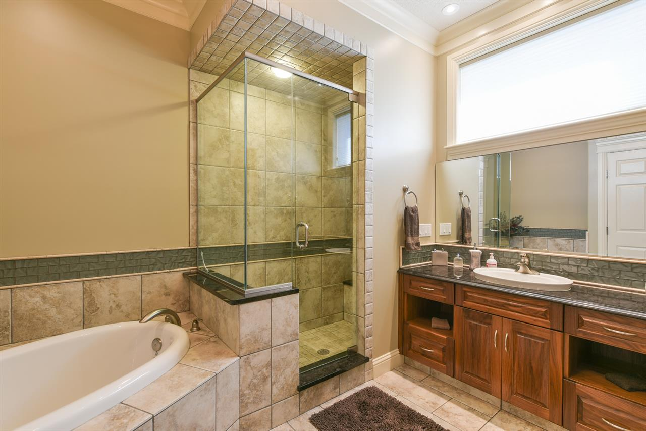 This bathroom is conveniently located next to the two additional bedrooms in the lower level.