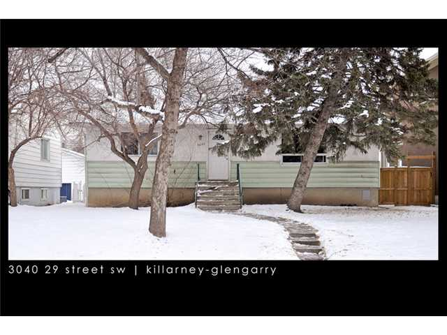 Main Photo: 3040 29 Street SW in CALGARY: Killarney Glengarry Residential Detached Single Family for sale (Calgary)  : MLS® # C3500737