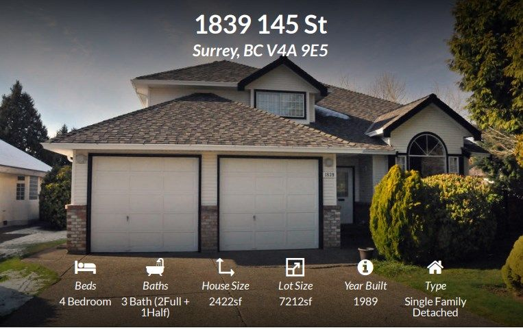 FEATURED LISTING: 1839 145 Street Surrey