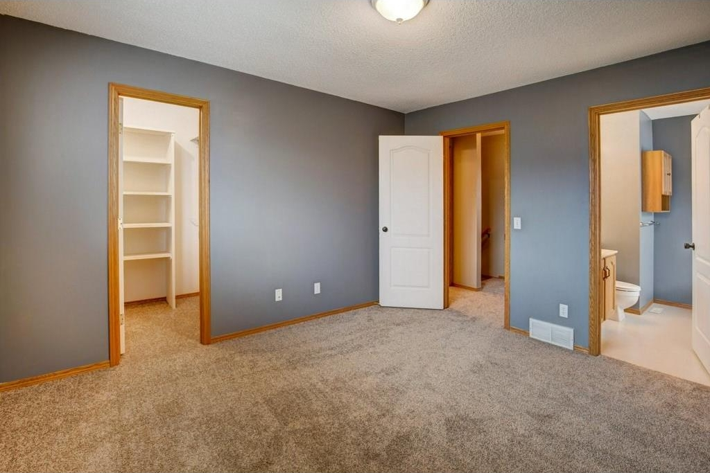 Master Bedroom with walk-in closet and 4 pc bath. Brand New Carpets installed Sept 12, 2017.