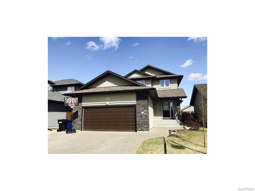 Main Photo: 322 Blackstock Cove in Saskatoon: Stonebridge Single Family Dwelling for sale (Saskatoon Area 02)  : MLS® # 606889