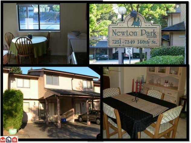 "Main Photo: 133 7325 140TH Street in Surrey: East Newton Townhouse for sale in ""NEWTON PARK"" : MLS®# F1118574"