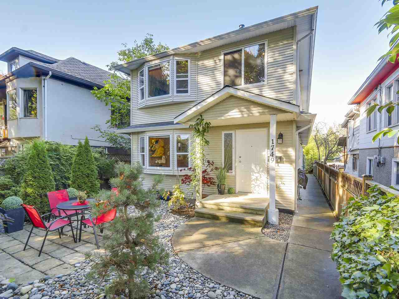 Main Photo: 1749 E 13TH Avenue in Vancouver: Grandview VE House 1/2 Duplex for sale (Vancouver East)  : MLS®# R2115872