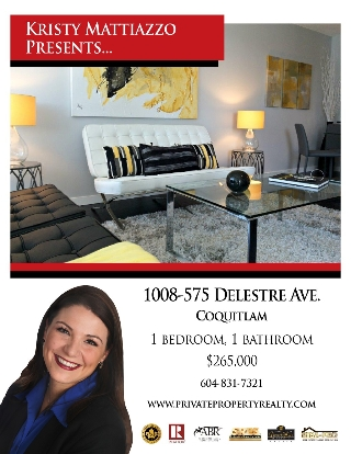 "Main Photo: 1008 575 DELESTRE Avenue in Coquitlam: Coquitlam West Condo for sale in ""CORA"" : MLS® # V1123619"