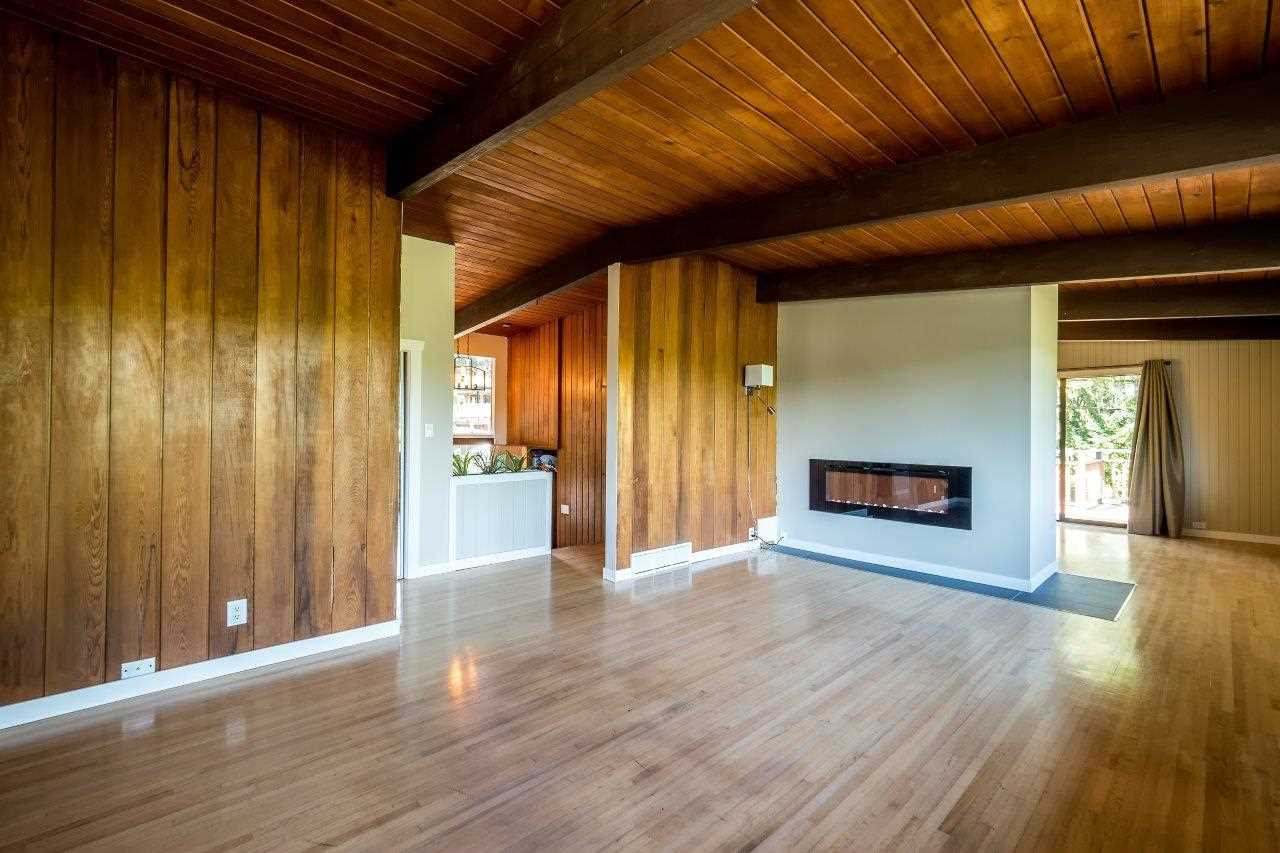 Oak hardwood and cedar beams