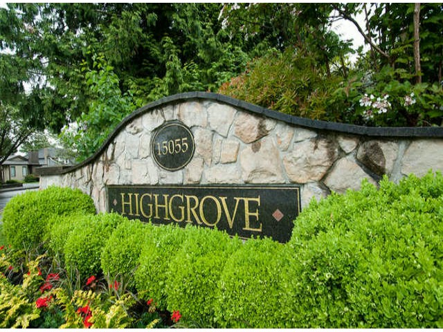 "Main Photo: 56 15055 20TH Avenue in Surrey: Sunnyside Park Surrey Townhouse for sale in ""HIGHGROVE (2ND PHASE)"" (South Surrey White Rock)  : MLS®# F1311704"