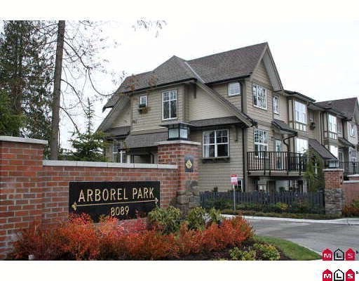 "Main Photo: 72 8089 209TH Street in Langley: Willoughby Heights Townhouse for sale in ""ARBOREL PARK"" : MLS®# F2911425"