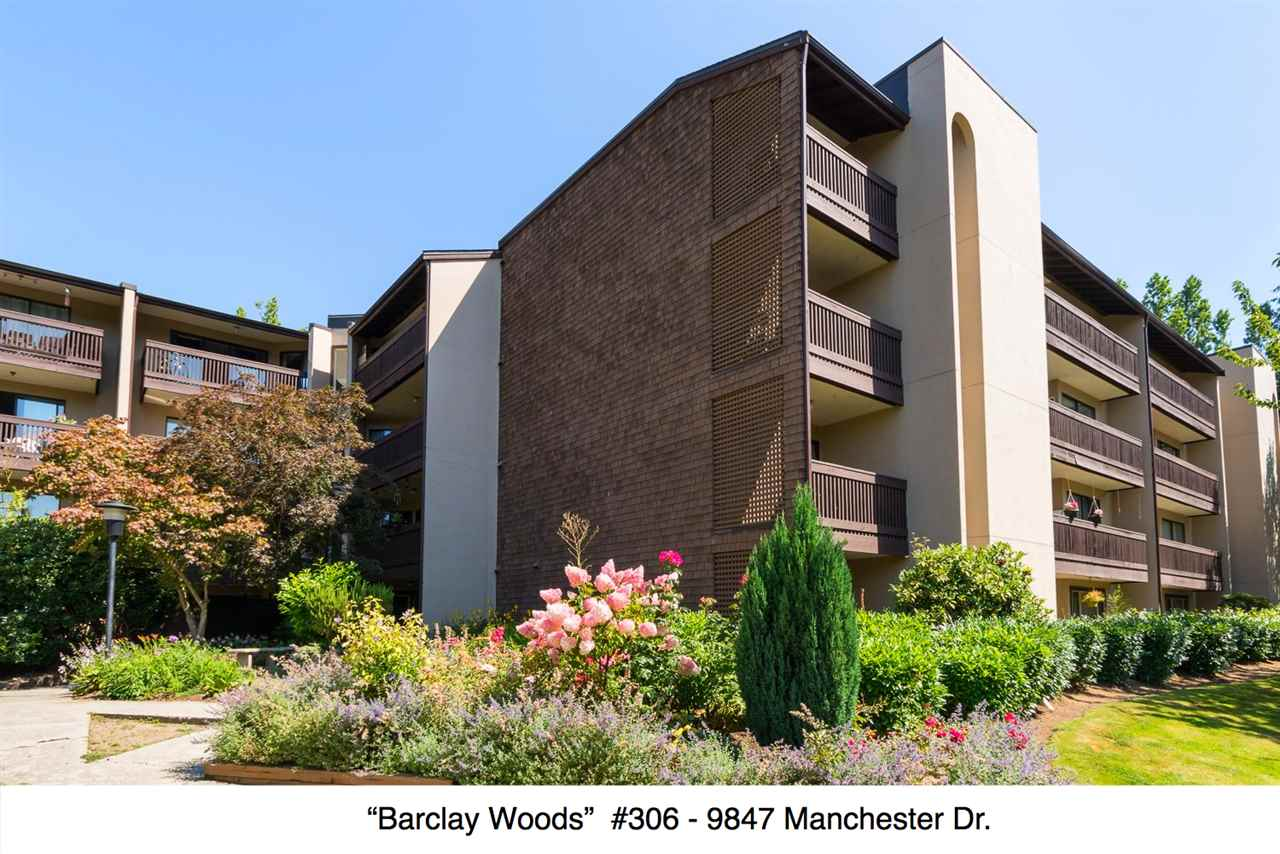 "Main Photo: 306 9847 MANCHESTER Drive in Burnaby: Cariboo Condo for sale in ""Barclay Woods"" (Burnaby North)  : MLS®# R2095545"