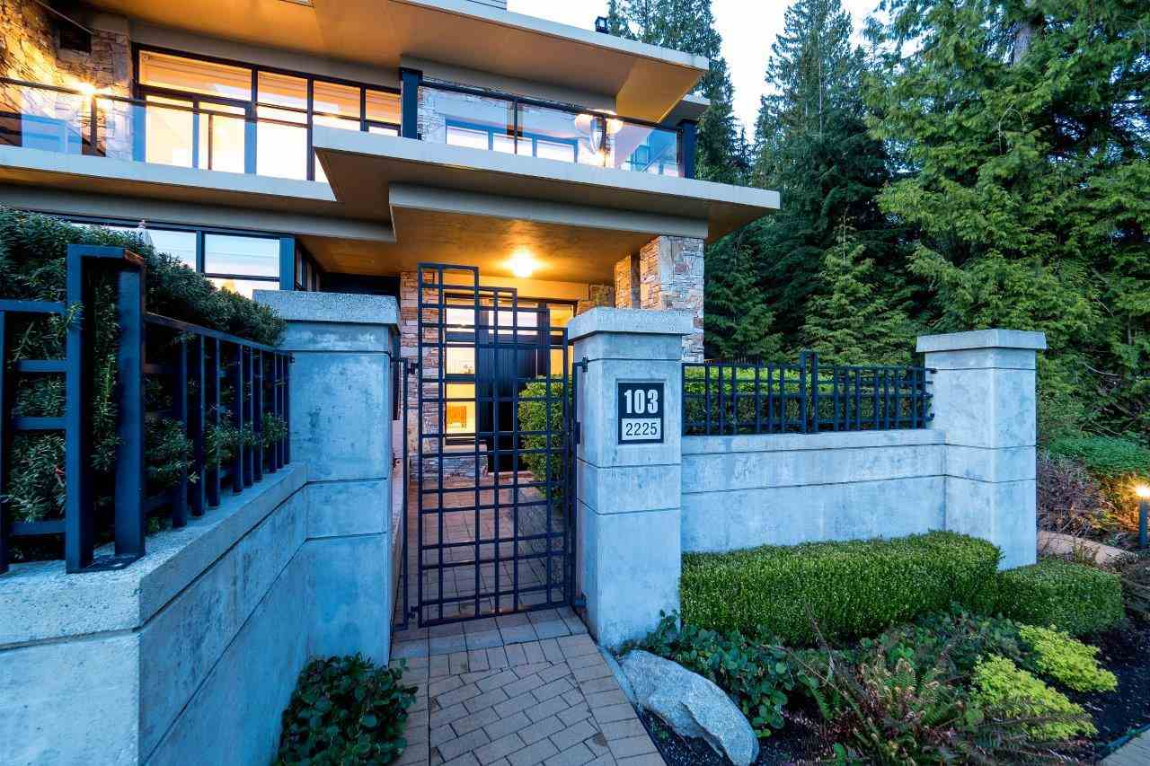 "Main Photo: 103 2225 TWIN CREEK Place in West Vancouver: Whitby Estates Townhouse for sale in ""THE PROPERTIES"" : MLS(r) # R2163755"