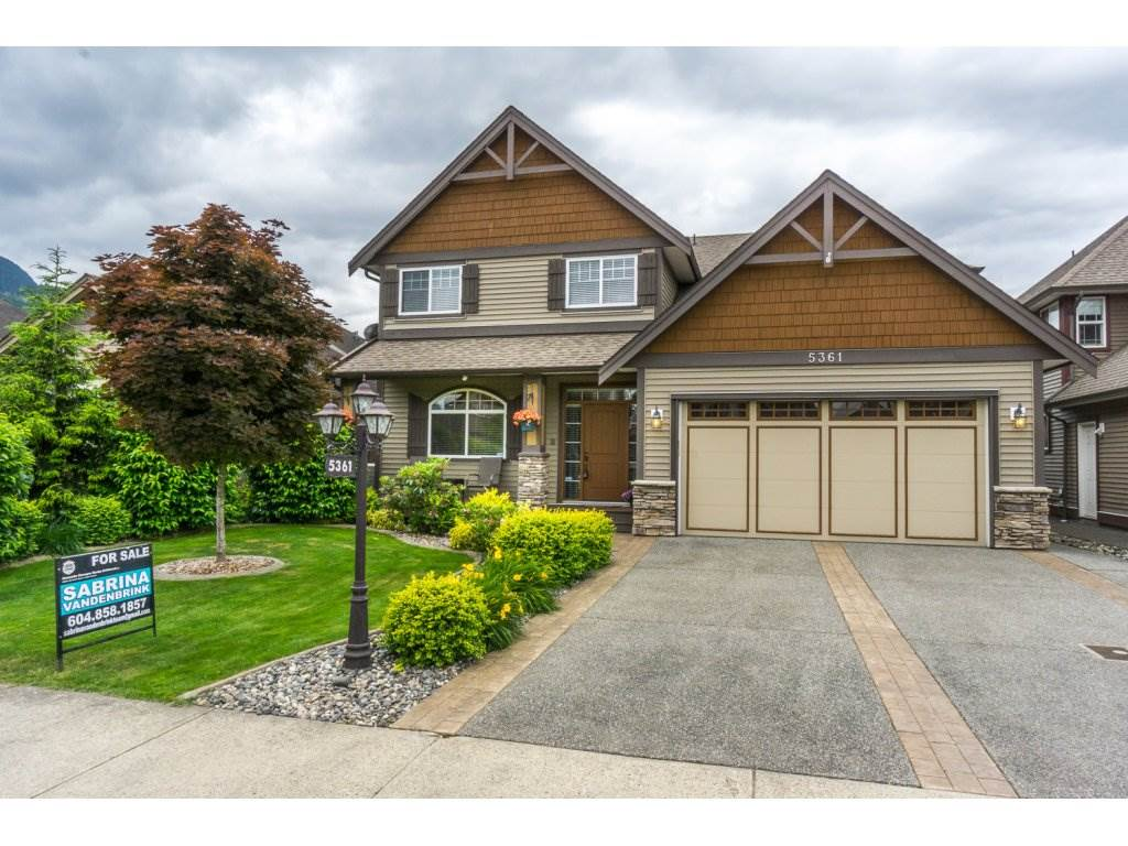 "Main Photo: 5361 CHINOOK Street in Chilliwack: Vedder S Watson-Promontory House for sale in ""WEBSTERS LANDING"" (Sardis)  : MLS®# R2176809"