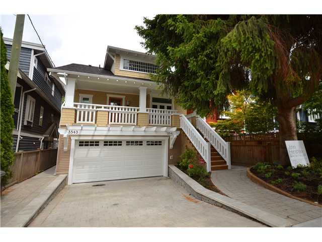Main Photo: 3541 W 8TH Avenue in Vancouver: Kitsilano House 1/2 Duplex for sale (Vancouver West)  : MLS®# V900175
