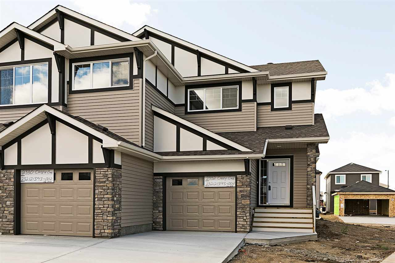 Main Photo: 2332 CASEY Crescent SW in Edmonton: Zone 55 House Half Duplex for sale : MLS® # E4082716