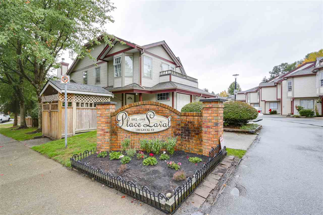 "Main Photo: 156 100 LAVAL Street in Coquitlam: Maillardville Townhouse for sale in ""Place Laval"" : MLS® # R2209527"