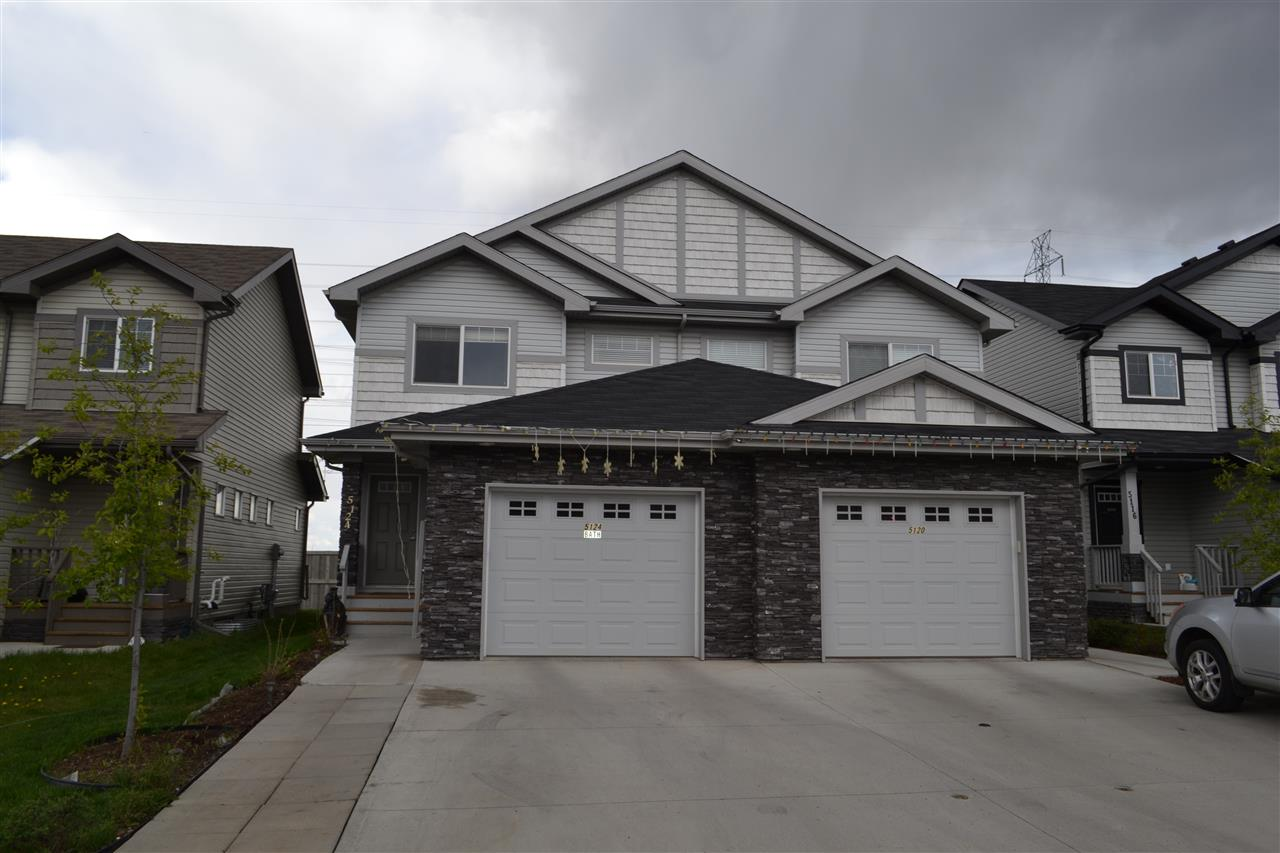 Main Photo: 5124 1A Avenue in Edmonton: Zone 53 House Half Duplex for sale : MLS®# E4111303