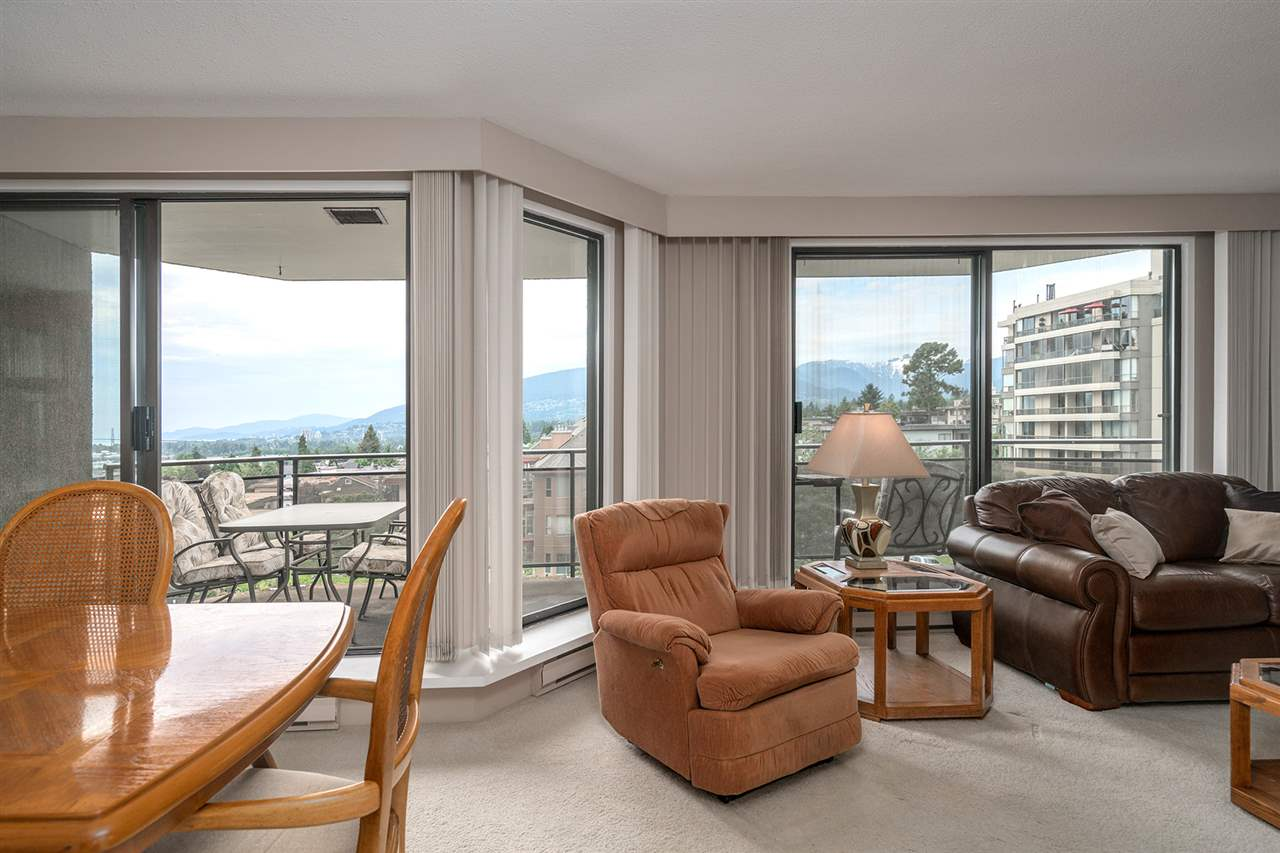 Bright, west facing with views of the north shore mountains, water and city!