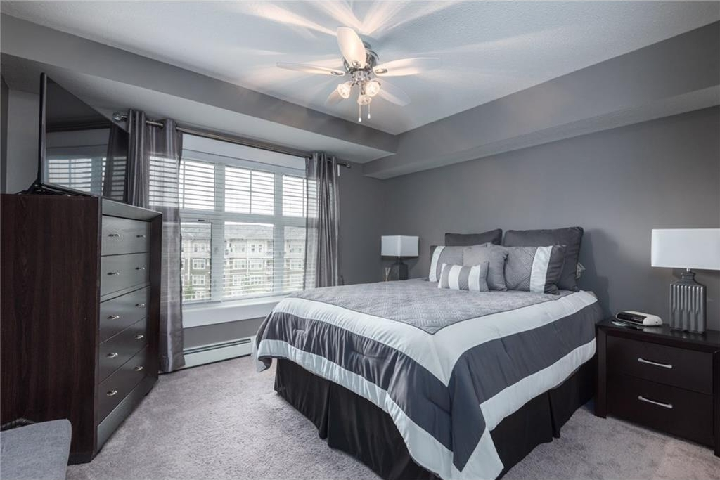 Large Master bedroom with downtown views!