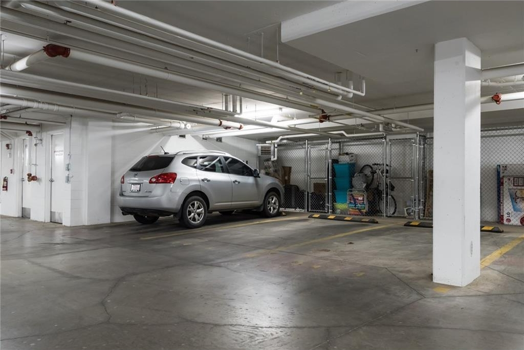 Secure, clean, well lit underground titled parking!