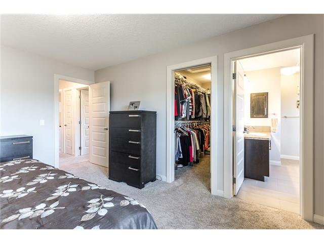 Master bedroom. Doors to closet and master bath.