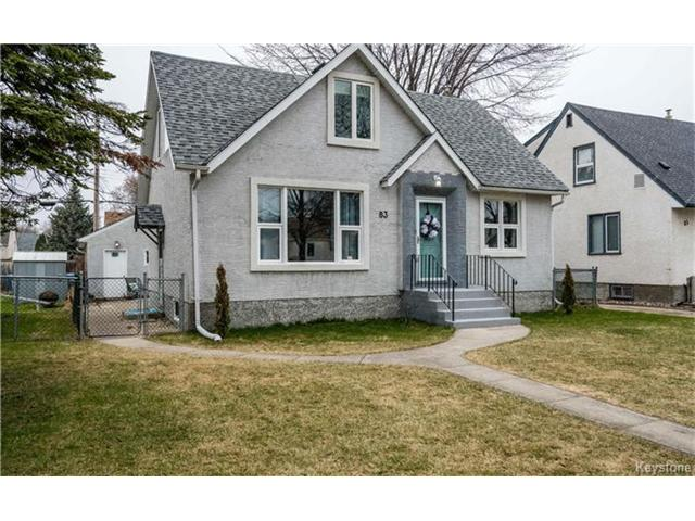 Main Photo: 83 Handyside Avenue in Winnipeg: Residential for sale (2D)  : MLS®# 1709599