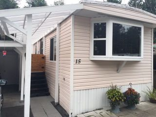 "Main Photo: 15 4200 DEWDNEY TRUNK Road in Coquitlam: Ranch Park Manufactured Home for sale in ""HIDEAWAY PARK"" : MLS®# R2290621"