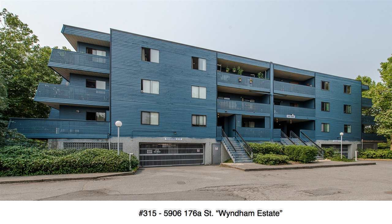 "Main Photo: 315 5906 176A Street in Surrey: Cloverdale BC Condo for sale in ""WYNDHAM ESTATE"" (Cloverdale)  : MLS® # R2194387"