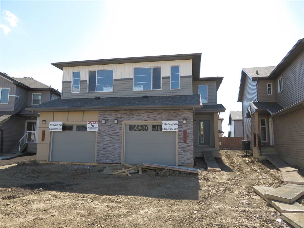 Main Photo: 2544 CASEY Way in Edmonton: Zone 55 House Half Duplex for sale : MLS®# E4102153