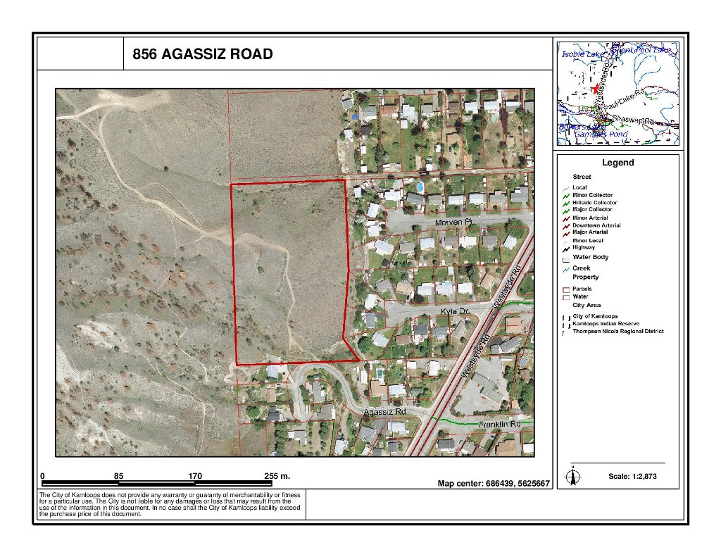 Main Photo: 856 Agassiz Road in Kamloops: Westsyde Land Only for sale : MLS® # 114172
