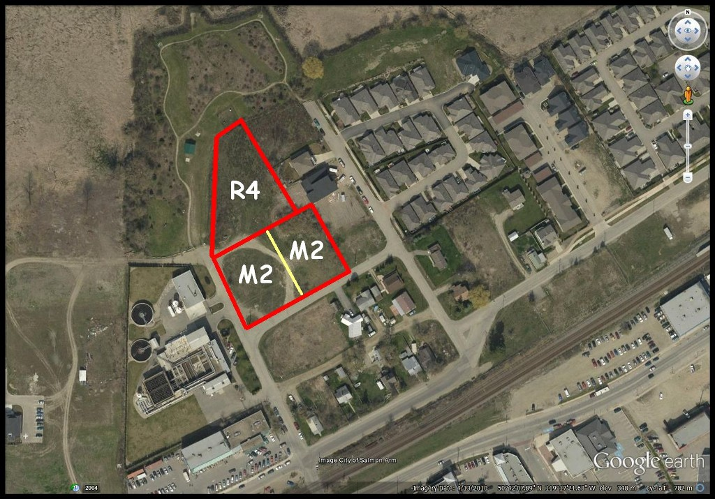 Main Photo: 350-390 Northwest Fraser Avenue in Salmon Arm: Harbourfront District Vacant Land for sale (NW Salmon Arm)  : MLS® # 10116559