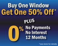 Mr Rogers Windows Special Discount - Buy 1 Window, Get 1 50% Off
