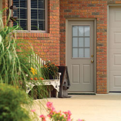 an exterior door built for security guaranteed to last