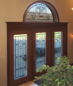 how a simple door brightened up a home with transom windows