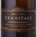 Label of Roederer Estate Brut Anderson Valley L'Ermitage 2012