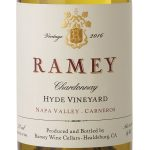 Label of Ramey Chardonnay Napa Valley Carneros Hyde Vineyard 2016