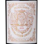 Label of Château Pichon Baron Pauillac 2016