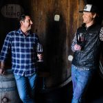 Napa winemaking consultant Andy Erickson (left) and winemaker Braiden Albrecht in Mayacamas' barrel cellar