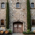 The exterior of Mayacamas' 1889 stone winery on Mount Veeder in Napa Valley