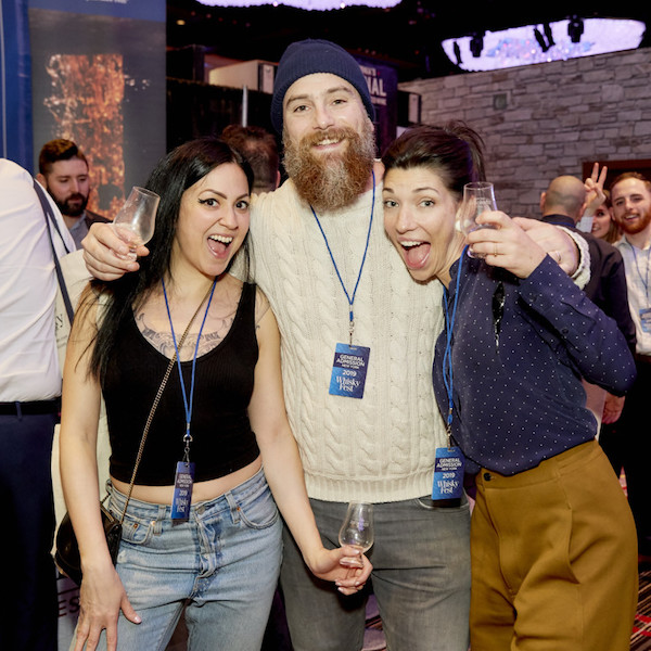 Attendees at WhiskyFest New York 2019 on Dec. 3, in the ballroom of the Marriott Marquis in Times Square, where they had access to more than 425 whiskies.