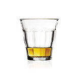 The Duralex Picardie tumbler is shown containing about an ounce of whisky.