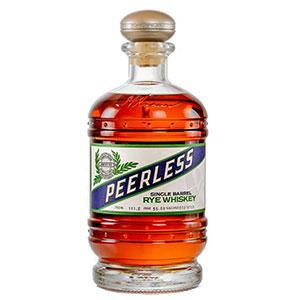 A bottle of Kentucky Peerless Copper & Kings Absinthe Barrel-Finished rye.