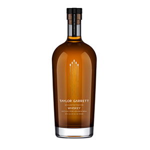 A bottle of Taylor Garrett Accelerated Whiskey.