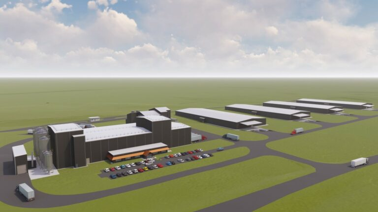 A rendering of the new Bulleit distillery in Lebanon, Kentucky.