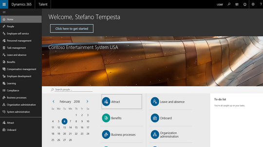 The unified admin dashboard in Dynamics 365 for Talent