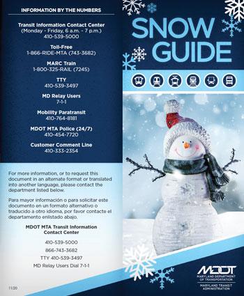 MDOT MTA Snow Guide