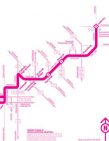Static Image Map for CityLink PINK