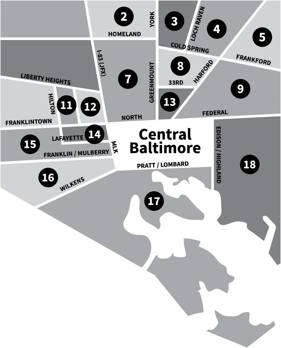 Supplemental Service Zones in Baltimore