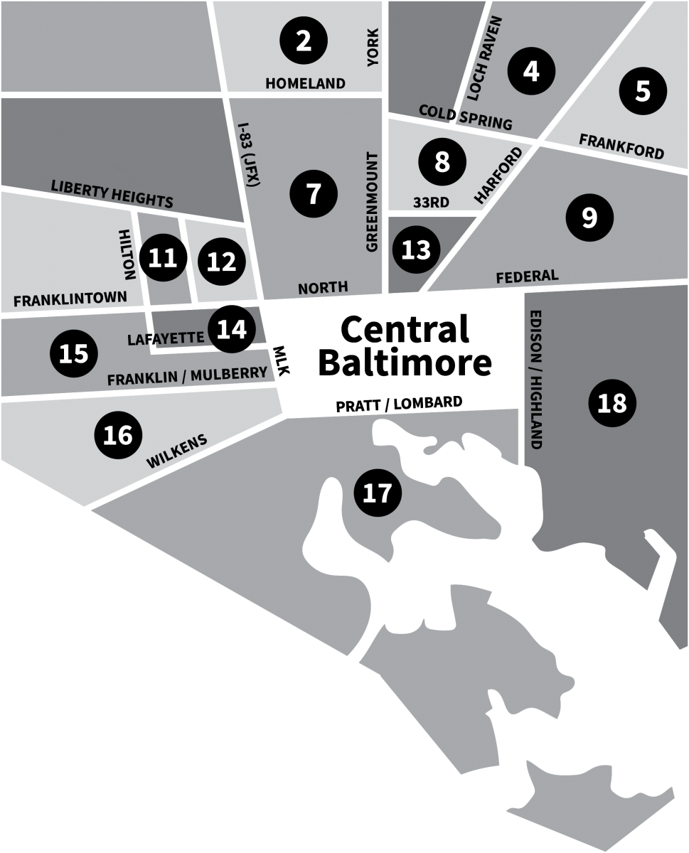Supplemental Service Zones in Baltimore
