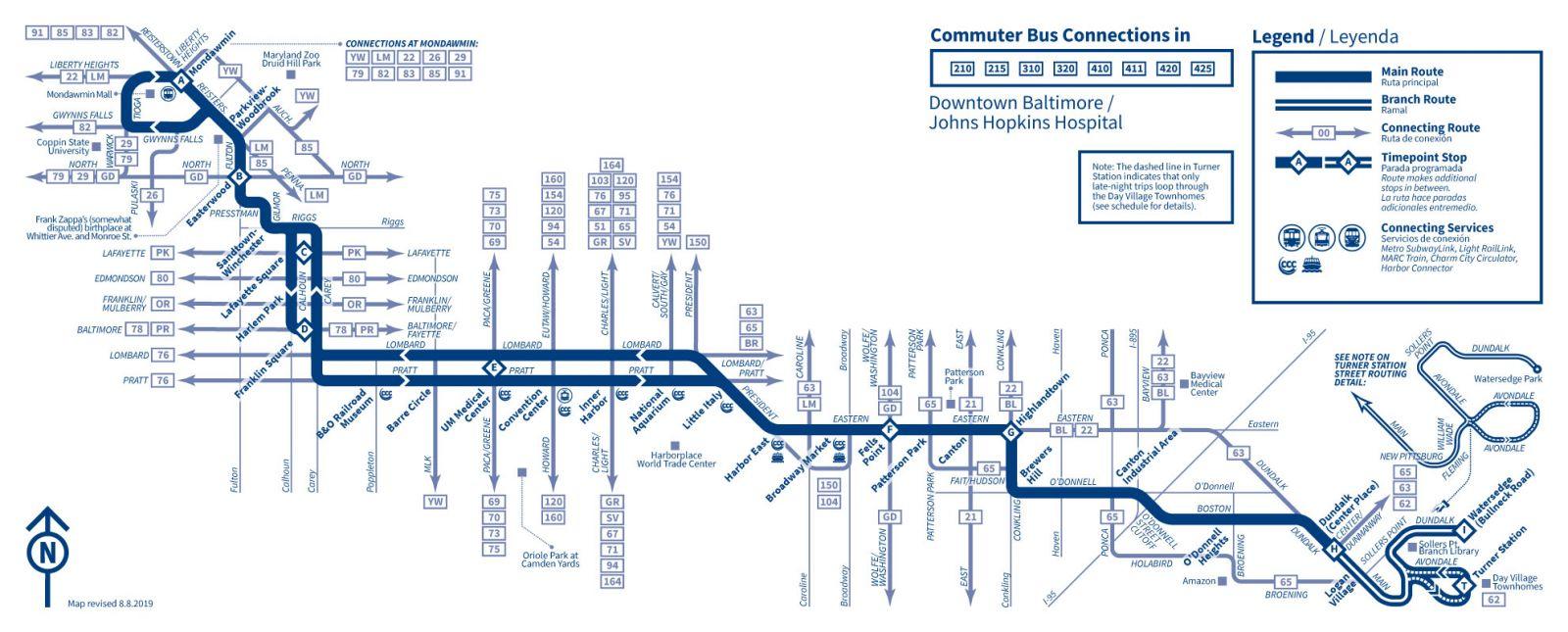 Fall 2019 Service Adjustments Maryland Transit