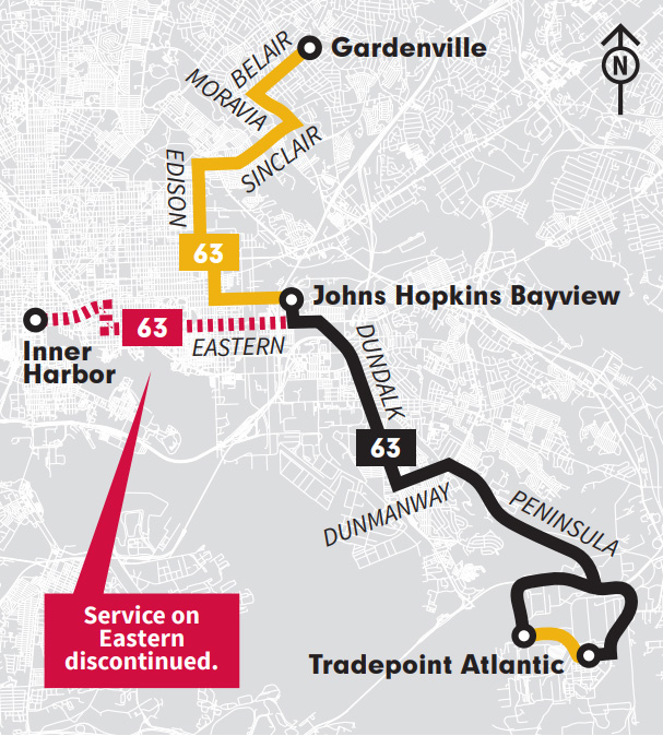 New LocalLink 63 via Edison Highway map