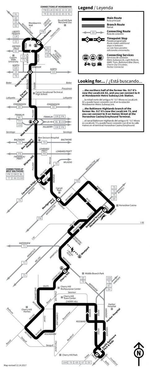 Winter 2018 Service Adjustments Maryland Transit
