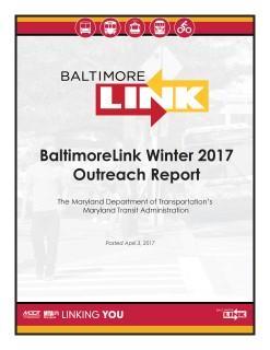 BaltimoreLink Winter 2017 Outreach Report